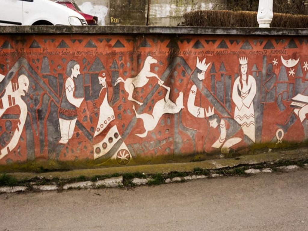 Mythological street art in Iasi