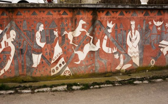 Mythological street art in Iasi