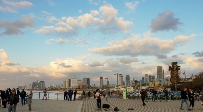 Promenade of Tel Aviv,Israel