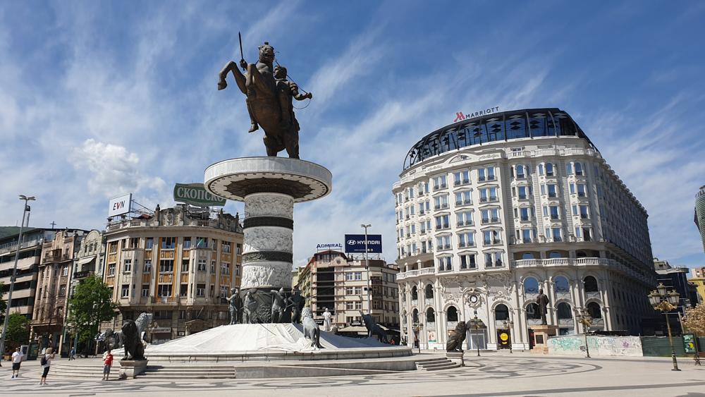 Alexander the Great Square in Skopje
