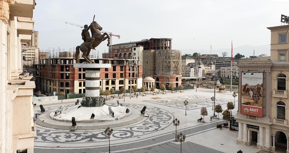 Alexander the Great Square in Skopje Macedonia