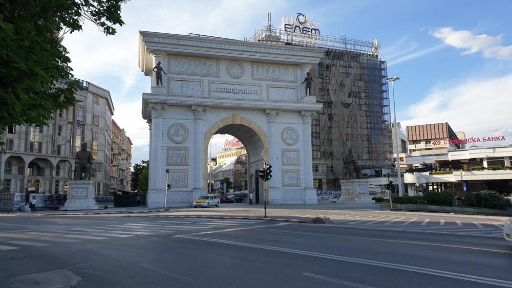 The Macedonian Gate, a Triumphal Arch in Skopje